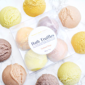Café-scented Bath Truffle Set by Tailored Soap