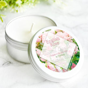 English Rose Scented Candle by Tailored Soap