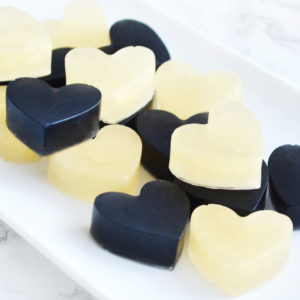 Gold and Black Heart Soap Favors by Tailored Soap