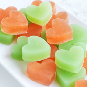 Green and Copper Heart Soap Favors by Tailored Soap