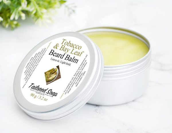 Tobacco & Bay Leaf Beard Balm by Tailored Soap