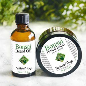 Bonsai Beard Balm and Beard Oil by Tailored Soap