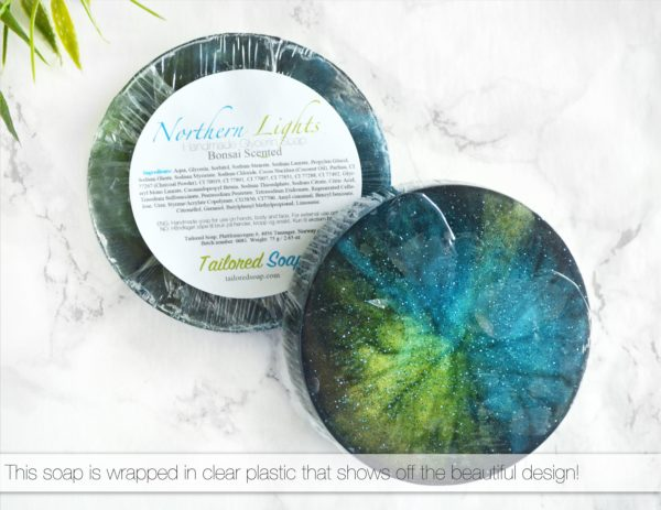 Northern Lights Soap Packaging