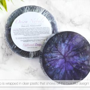 Orion Nebula Soap Packaging
