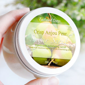 Crisp Anjou Pear Sugar Scrub by Tailored Soap