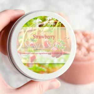 Strawberry Sugar Scrub by Tailored Soap