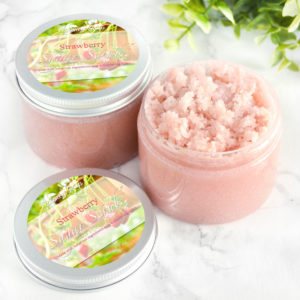 Strawberry Sugar Scrub by Tailored Soap