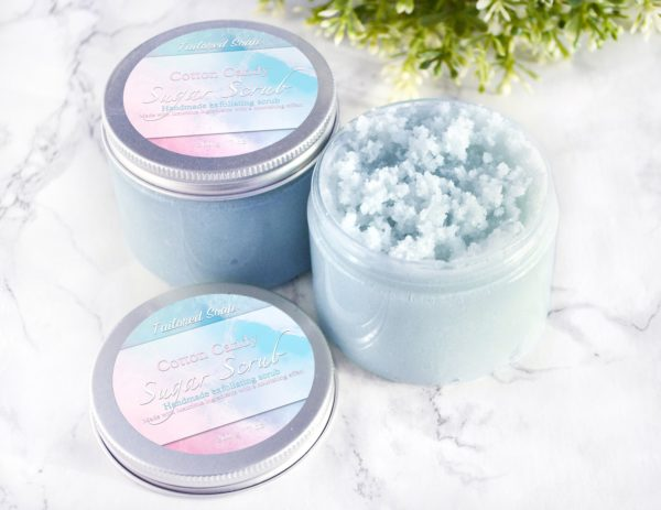 Cotton Candy Sugar Scrub by Tailored Soap