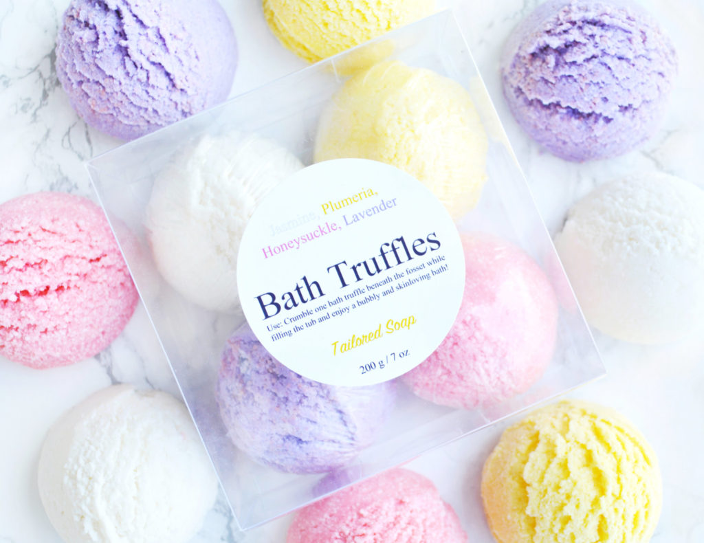 Floral Bath Truffle Set by Tailored Soap