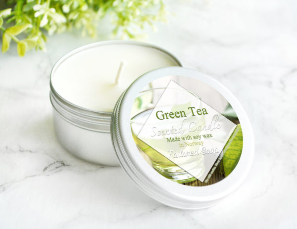 Green Tea Scented Candle by Tailored Soap
