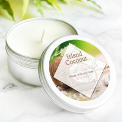 Island Coconut Scented Candle by Tailored Soap