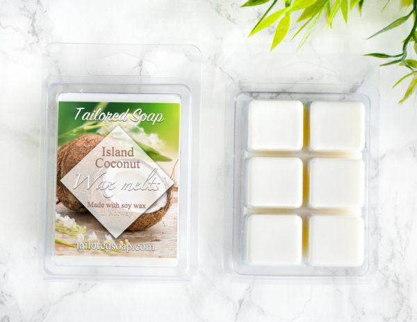 Island Coconut Scented Wax Melts by Tailored Soap