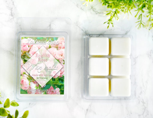 English Rose Wax Melts by Tailored Soap