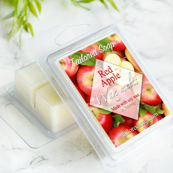 Red Apple Scented Wax Melts by Tailored Soap