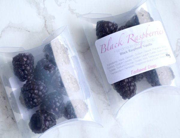 Black Raspberry Soap Set by Tailored Soap