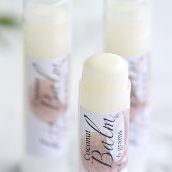 Coconut Flavored Lip Balm by Tailored Soap