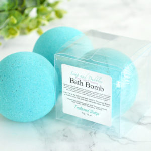 Teal Water Color Changing Soap & Bubbles Scented Bath Bomb by Tailored Soap