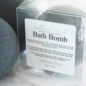 Black Water Color Changing Spellbound Woods Scented Bath Bomb by Tailored Soap