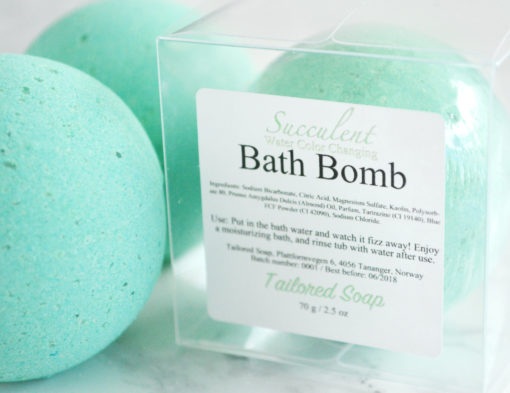 Succulent Bath Bomb by Tailored Soap
