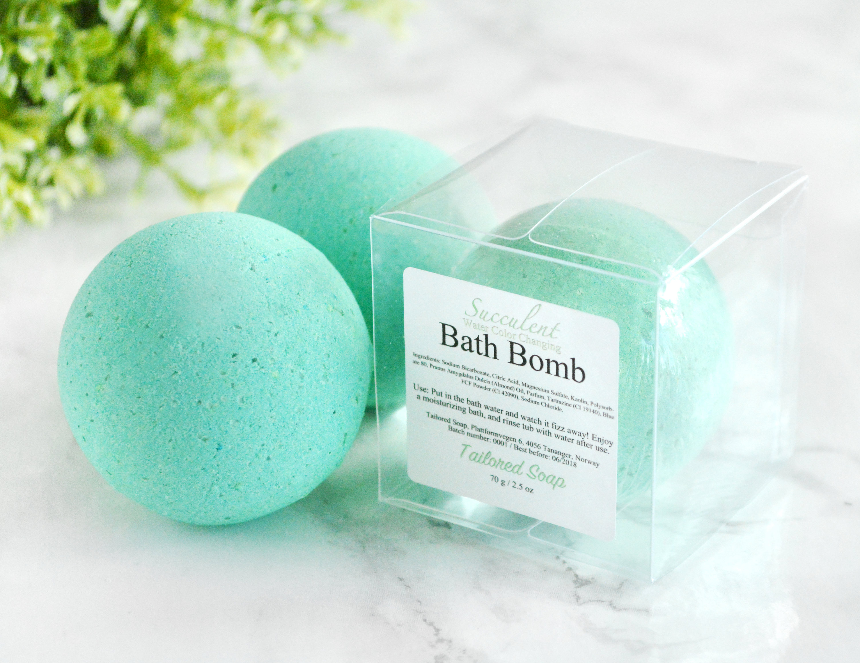 Green Succulent Bath Bomb by Tailored Soap