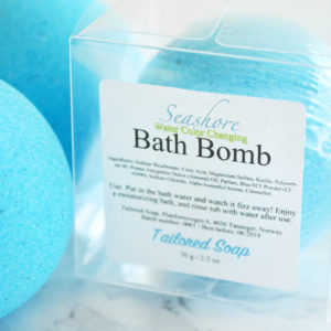 Blue Water Color Changing Seashore Bath Bomb by Tailored Soap
