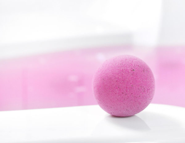 Pink Bath Bomb by Tailored Soap