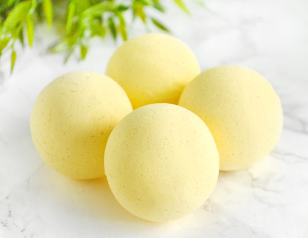 Yellow Water Color Changing Southern Peaches Scented Bath Bomb by Tailored Soap