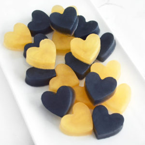 Gold and Black Heart Soap Favors