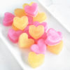 Pink and Gold Heart Soap Favors by Tailored Soap
