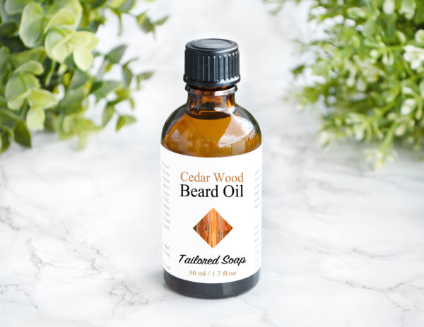Cedar Wood Essential Oil Scented Beard Oil by Tailored Soap