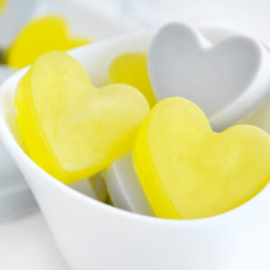 Yellow and Grey Heart Soap Favors by Tailored Soap