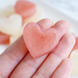 Ivory and Pink Blush Heart Soap Favors by Tailored Soap