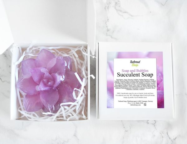 Soap and Bubbles Succulent Soap by Tailored Soap
