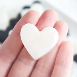 Black and White Heart Soap Favors by Tailored Soap