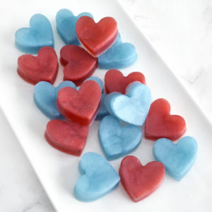 Marsala Red and Blue Baby Heart Favors by Tailored Soap