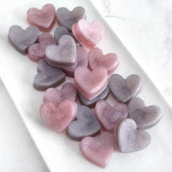 Taupe and Dusty Pink Heart Favors by Tailored Soap