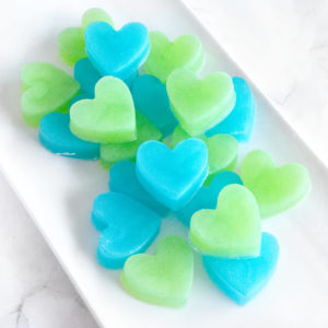 Green and Aqua Heart Soap Wedding Favors by Tailored Soap