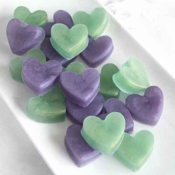Purple and Celadon Green by Tailored Soap