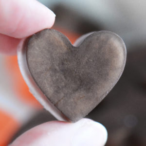 Orange and Brown Heart Soap Favors by Tailored Soap