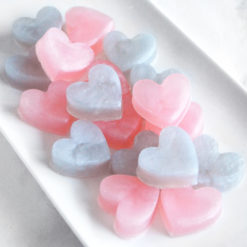 Pink and Silver Heart Soap Favors by Tailored Soap