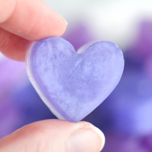 Lavender Purple and Purple Heart Soap Favor by Tailored Soap