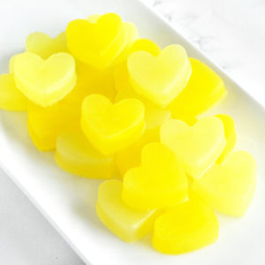 Light Yellow and Bright Yellow Heart Soap Wedding Favors by Tailored Soap