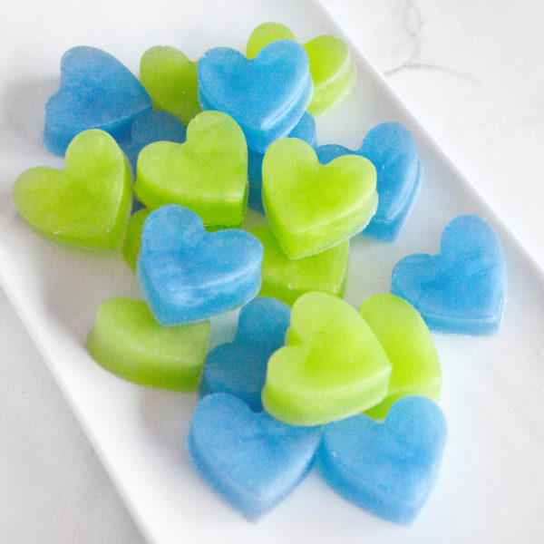 Blue and Green Heart Soap Favors by Tailored Soap