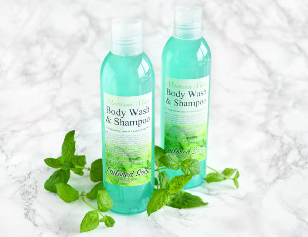 Moroccan Mint Body Wash & Shampoo by Tailored Soap