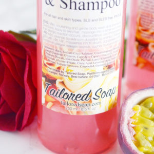 Passionfruit Rose Body Wash & Shampoo by Tailored Soap