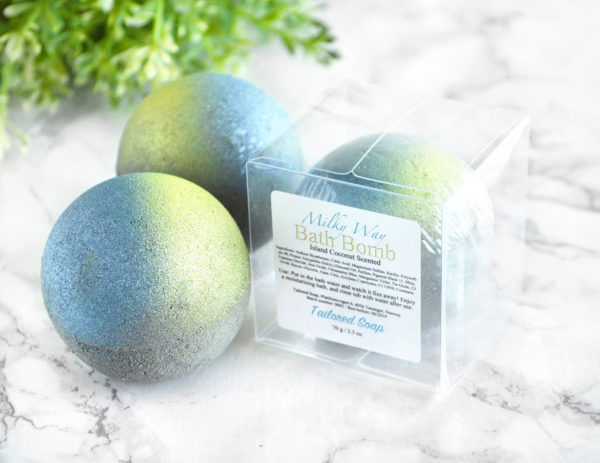 Milky Way Bath Bomb by Tailored Soap