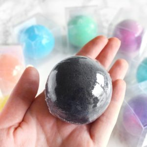 Bath Bomb by Tailored Soap in Palm of Hand