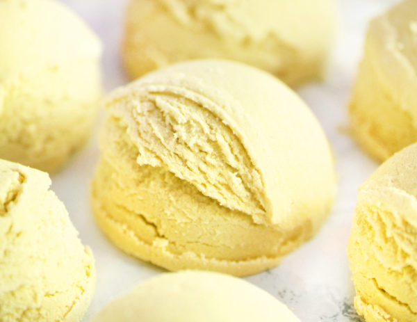Lemon Cake scented bubble bath truffle by Tailored Soap