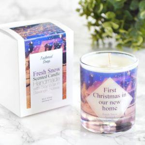 """First Christmas in Our New Home"" Candle by Tailored Soap"