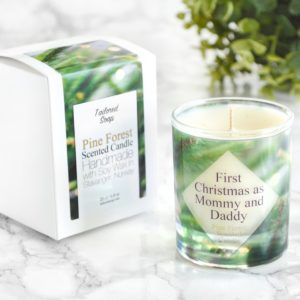 """First Christmas as Mommy and Daddy Candle"" by Tailored Soap"